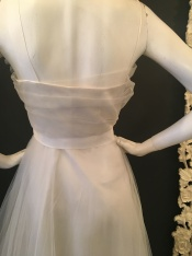 Flower shoulder dress by David Fielden. Good condition. Size 14.